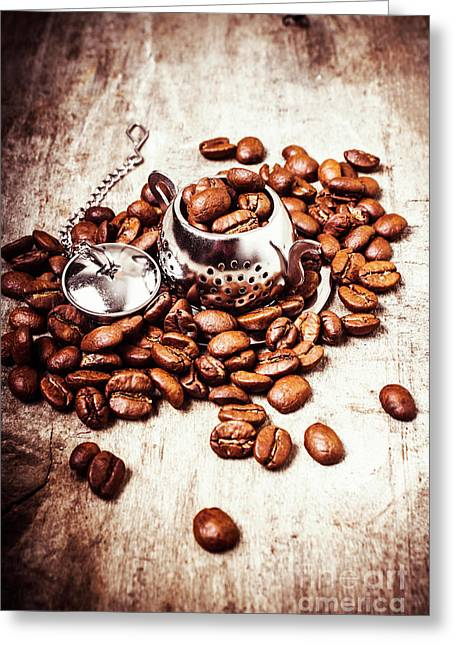 Coffee Break At The Tea House Greeting Card by Jorgo Photography - Wall Art Gallery
