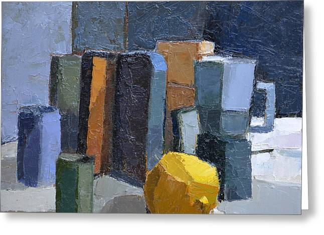 Ceramic Paintings Greeting Cards - Coffee Break Greeting Card by Jeremy Annett