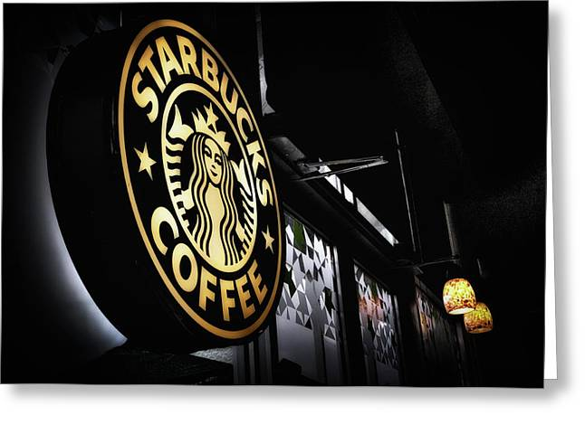 Coffee Break Greeting Card by Spencer McDonald