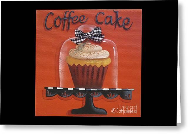Culinary Greeting Cards - Coffee Cake Cupcake Greeting Card by Catherine Holman