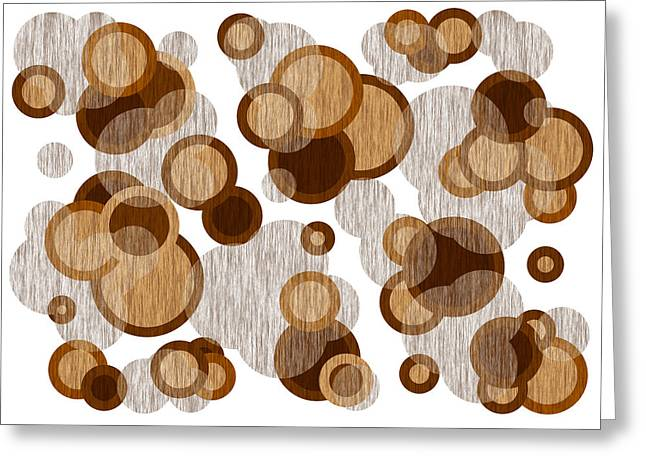 Huge Abstract Art Greeting Cards - Coffee Colored Circles Greeting Card by Frank Tschakert