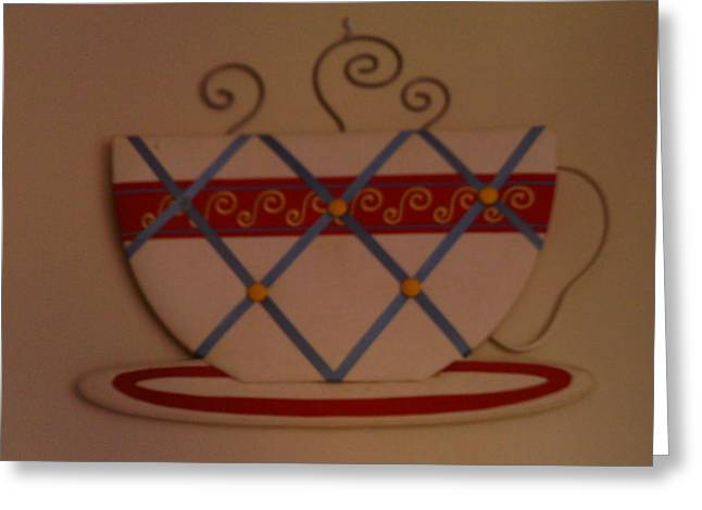 Plate Sculptures Greeting Cards - Coffee Cup Greeting Card by Bailey Reed