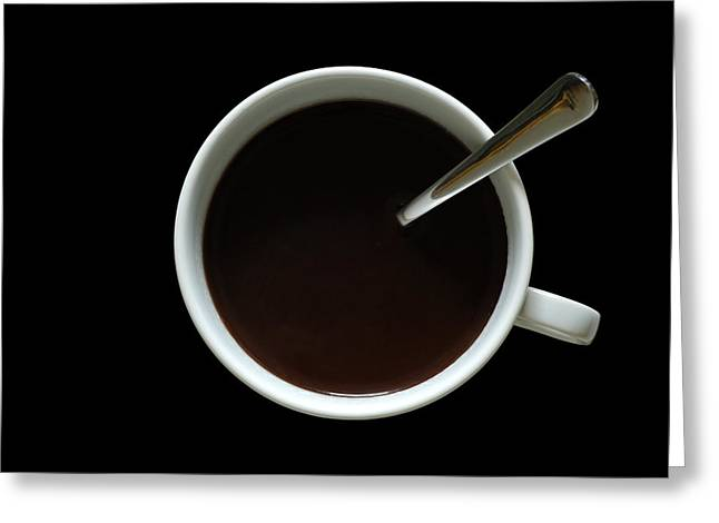 Clock Greeting Cards - Coffee Cup Greeting Card by Frank Tschakert
