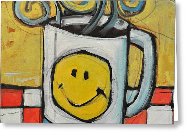 Nyberg Greeting Cards - Coffee Cup One Greeting Card by Tim Nyberg