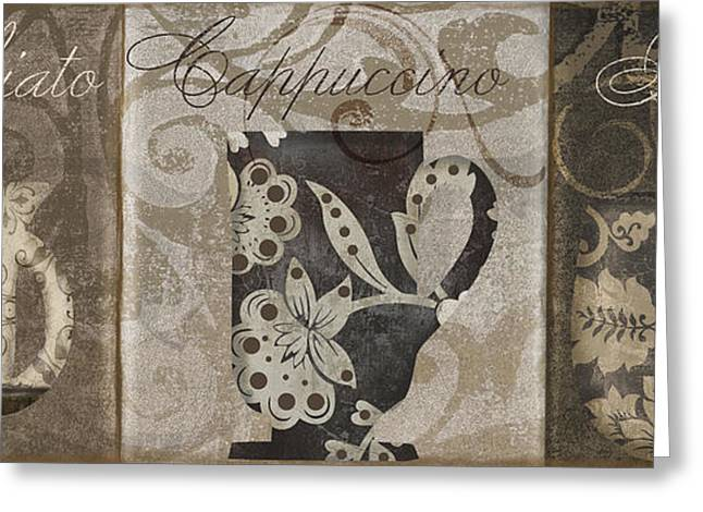 Barista Greeting Cards - Coffee Flavors I Greeting Card by Mindy Sommers