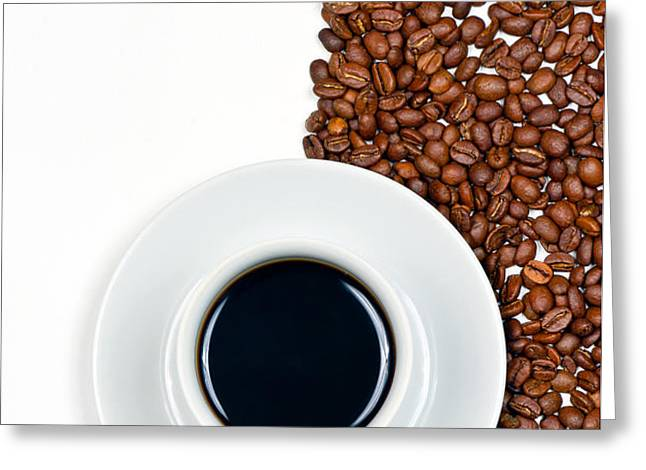 Coffee Greeting Card by Gert Lavsen