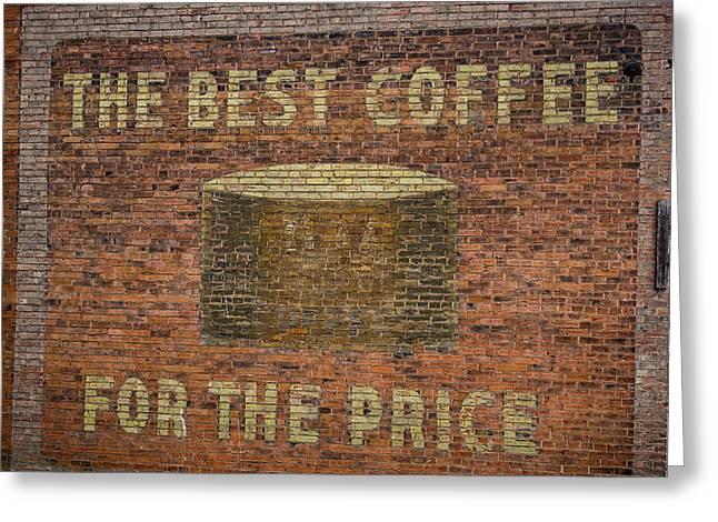 Coffee Ghost Sign Greeting Card by Paul Freidlund