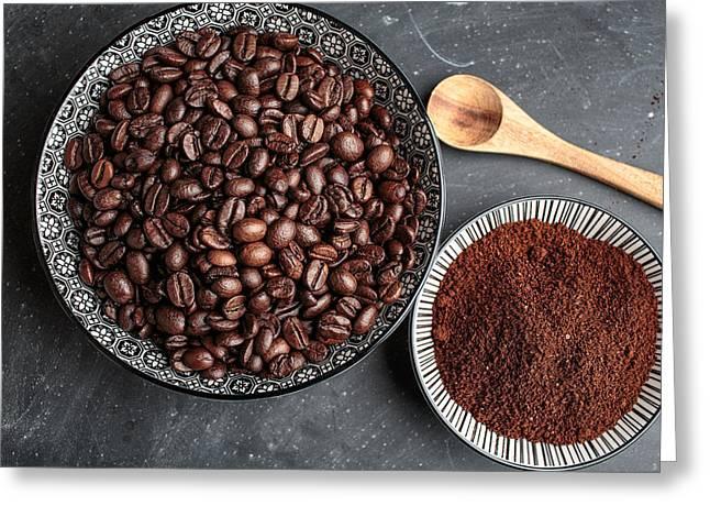 Coffee Greeting Card by Nailia Schwarz