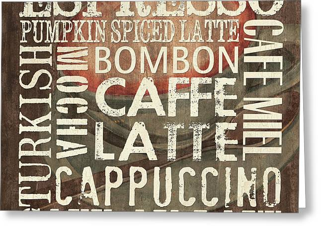 Caffe Latte Greeting Cards - Coffee of the Day 2 Greeting Card by Debbie DeWitt