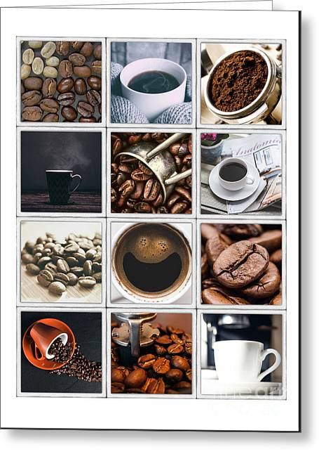 Coffee Poster Greeting Card by Pd