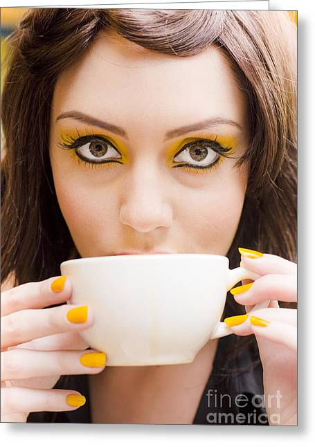 Coffee Greeting Card by Jorgo Photography - Wall Art Gallery