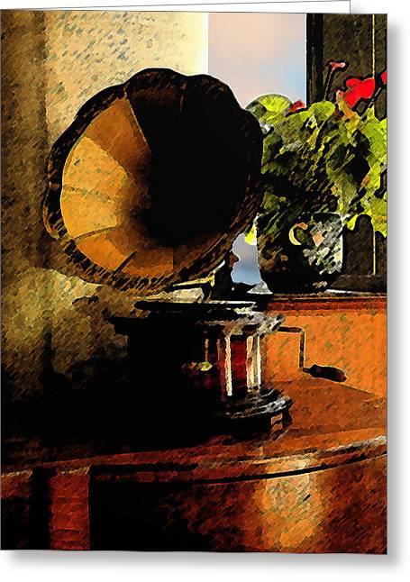 Edison Greeting Cards - Coffee Shop Greeting Card by David Patryas