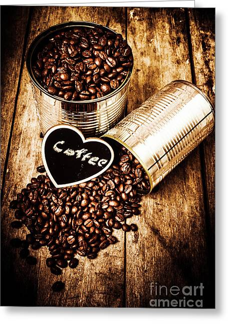 Coffee Shop Love Greeting Card by Jorgo Photography - Wall Art Gallery