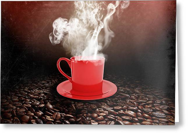 Americano Greeting Cards - Coffee Greeting Card by Stefano Senise