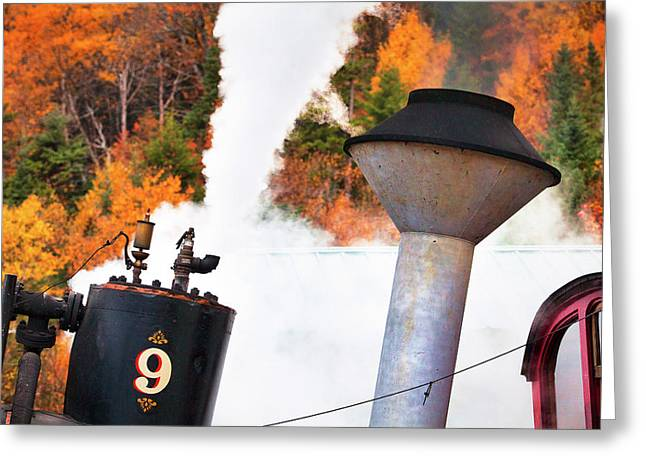 Cog Railway Steam Engine Greeting Card by Eric Gendron