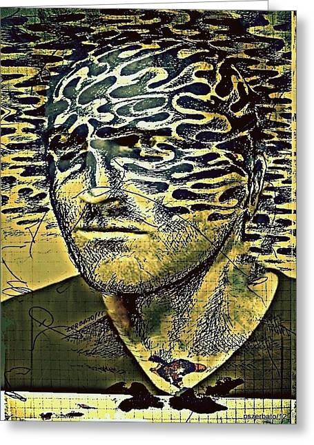 Distortion Mixed Media Greeting Cards - Cognitive Distortions Greeting Card by Paulo Zerbato