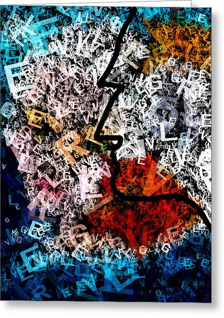 Thoughts Mixed Media Greeting Cards - Cognitive Greeting Card by Patricia Motley