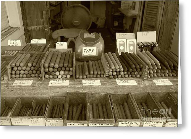 Smoking Greeting Cards - Cohiba Greeting Card by Debbi Granruth