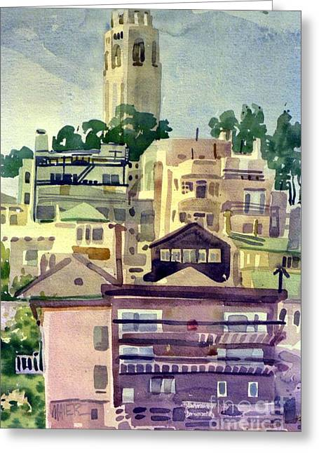 Coit Tower Greeting Cards - Coit Tower Greeting Card by Donald Maier