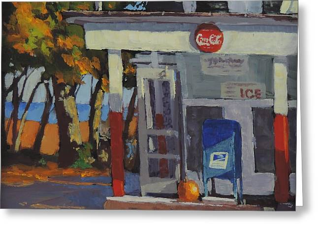 Store Fronts Greeting Cards - Coke Ice and Pumpkin Pie Greeting Card by Bill Tomsa