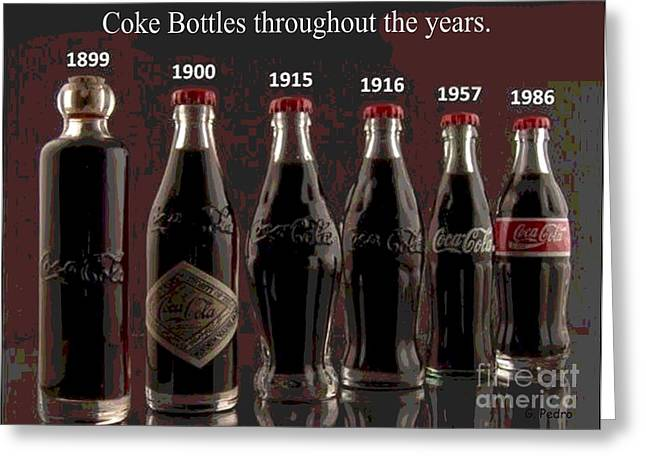 Coke Through Time Greeting Card by George Pedro