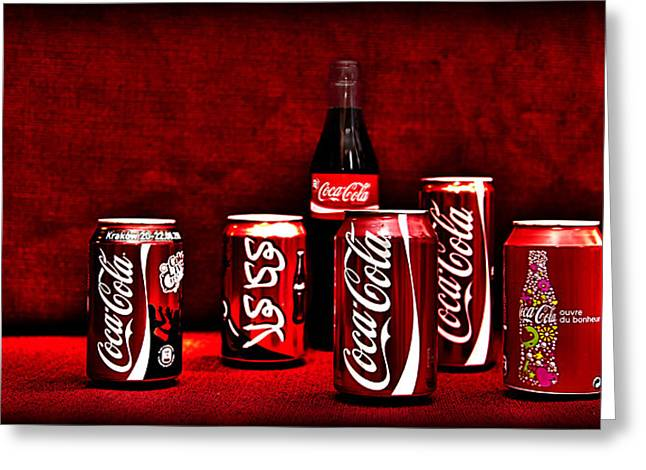 Soda Can Greeting Cards - Cola Greeting Card by Thomas Kessler