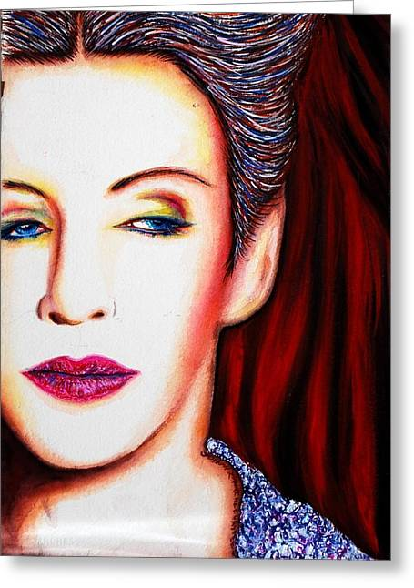 Annie Lennox Greeting Cards - Cold Greeting Card by Joseph Lawrence Vasile