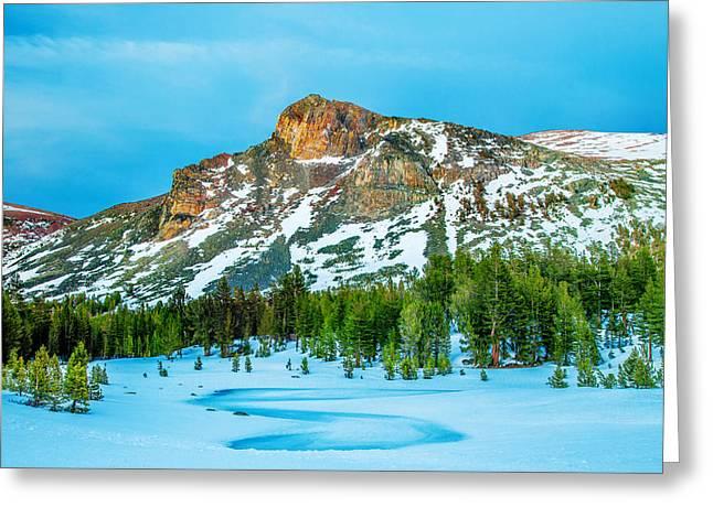Cold Mountain Greeting Card by Az Jackson