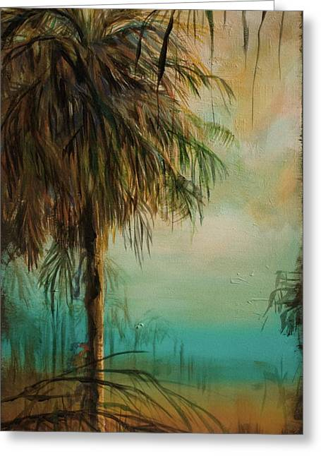 Cold Palm Marsh Greeting Card by Michele Hollister - for Nancy Asbell