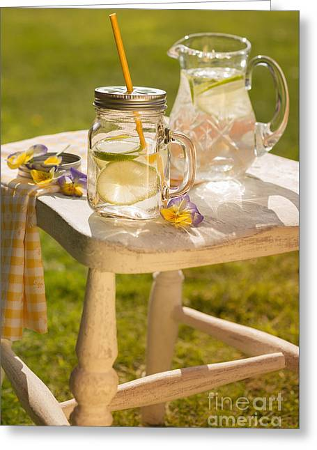 Green Glass Greeting Cards - Cold Summer Drinks Greeting Card by Amanda And Christopher Elwell
