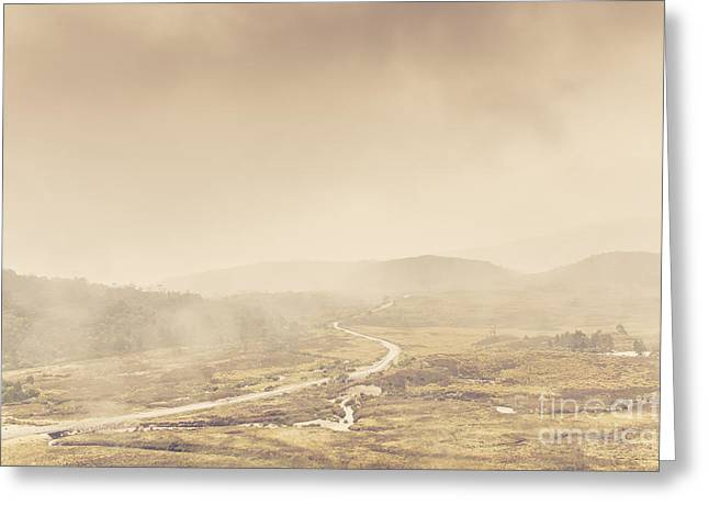 Cradle-mountain Greeting Cards - Cold winter landscape on cradle mountain Tasmania Greeting Card by Ryan Jorgensen