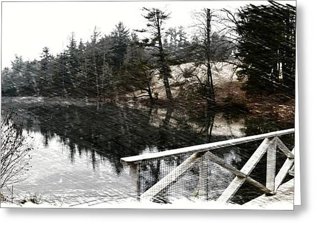 Historic Site Greeting Cards - Cold Winter Walk Sketch Greeting Card by Gary Conner