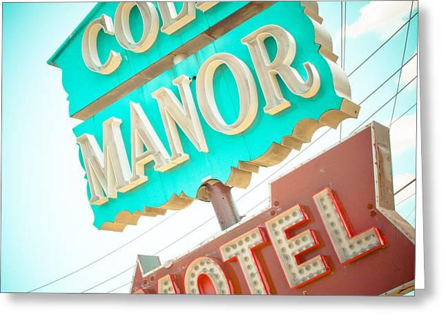 Cole Greeting Cards - Cole Manor Motel Greeting Card by David Waldo