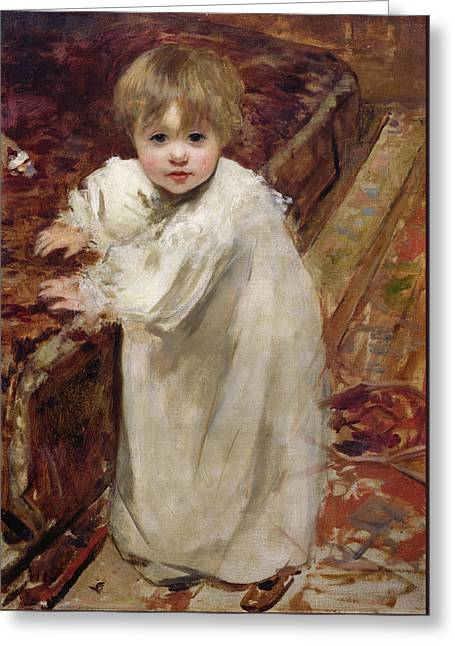 Colette's First Steps Greeting Card by Henri Gervex