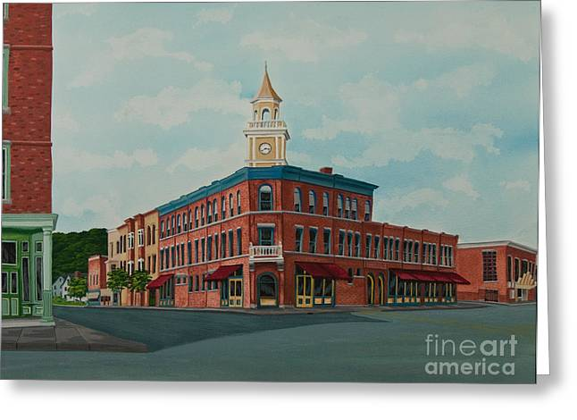 Downtown Books Greeting Cards - Colgate Bookstore Greeting Card by Charlotte Blanchard