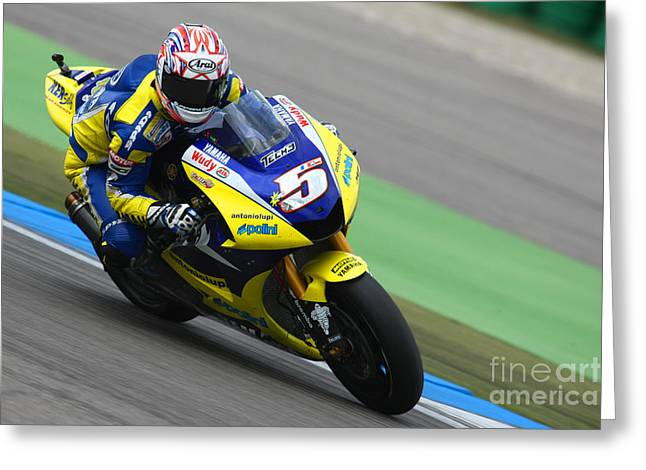 Sports Framed Photo Greeting Cards - Colin Edwards Greeting Card by Henk Meijer Photography
