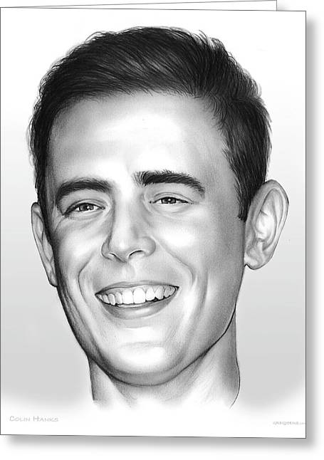 Colin Hanks Greeting Card by Greg Joens