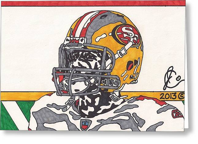 49ers Drawings Greeting Cards - Colin Kaepernick 3 Greeting Card by Jeremiah Colley