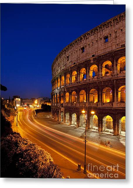 Coliseum At Twilight Greeting Card by Brian Jannsen