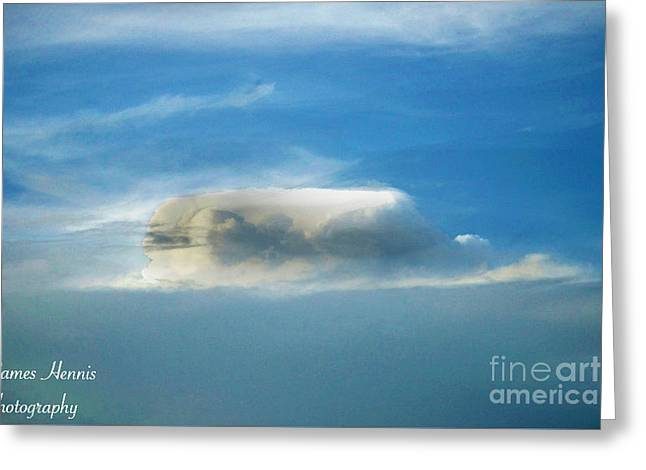 Clouds Tapestries - Textiles Greeting Cards - Coliseum in the Sky Greeting Card by James Hennis