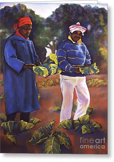 Collard Greens Greeting Cards - Collard Greens III Greeting Card by Curtis James