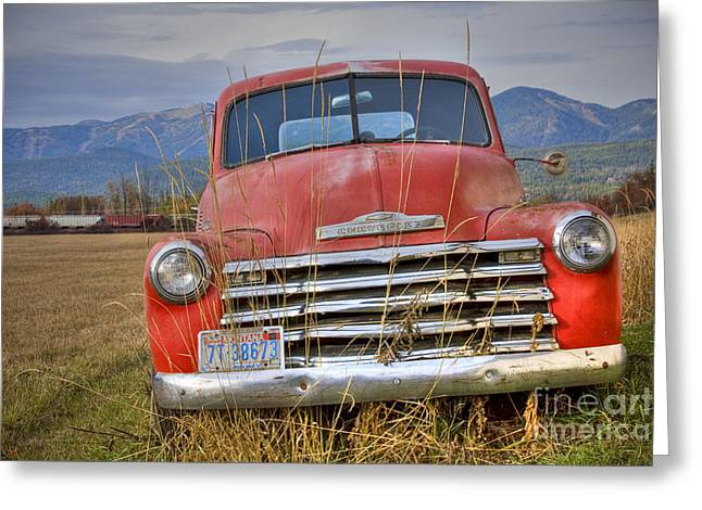 Farm Truck Greeting Cards - Collecting Weeds Greeting Card by Idaho Scenic Images Linda Lantzy