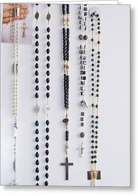 Rosary Jewelry Greeting Cards - Collection of Sample Rosaries Greeting Card by Mary