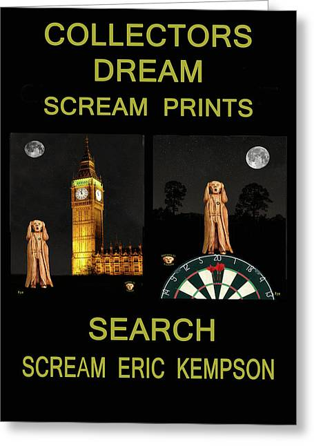 Edvard Munch Mixed Media Greeting Cards - Collectors Dream Greeting Card by Eric Kempson