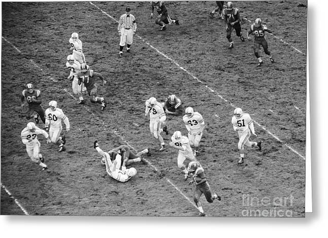 College Football Game From Above Greeting Card by H. Armstrong Roberts/ClassicStock