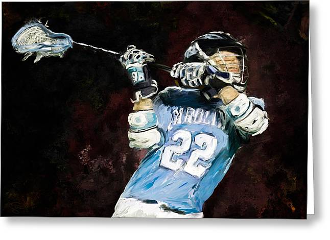 Scott Melby Greeting Cards - College Lacrosse 12 Greeting Card by Scott Melby
