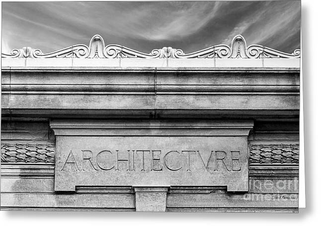 College Of Wooster Frick Hall Architecture Greeting Card by University Icons