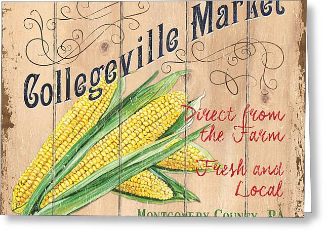 Collegeville Market Greeting Card by Debbie DeWitt