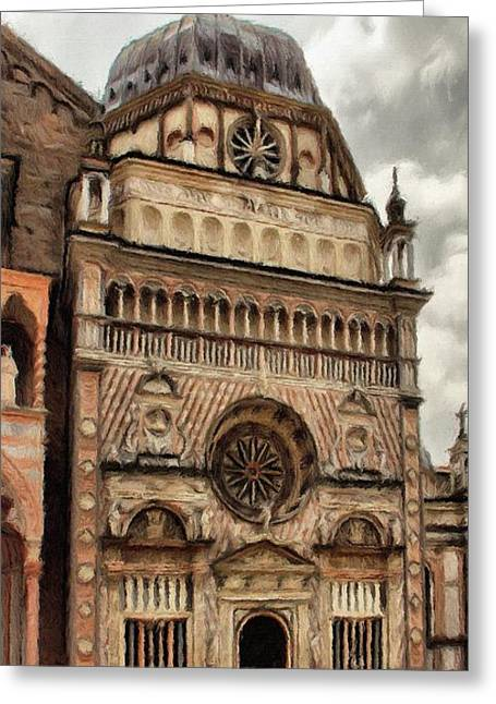 Citta Alta Greeting Cards - Colleoni Chapel Greeting Card by Jeff Kolker