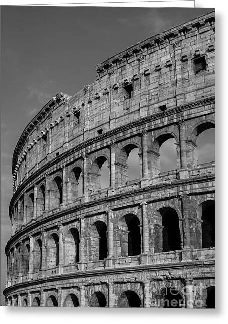 Colleseum Rome Italy Greeting Card by Edward Fielding
